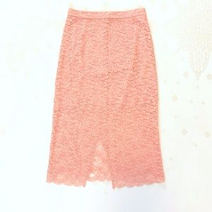 NWOT Babaton Wilbur Lace skirt